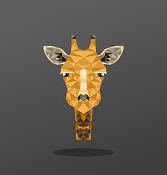 Animal portrait with polygonal geometric design vector