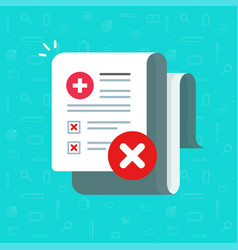 Bad medical health test results on paper vector
