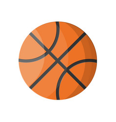 basketball ball over white background vector image