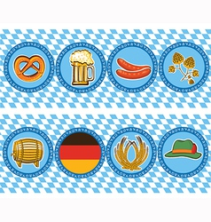 beer elements with oktoberfest symbol labels vector image
