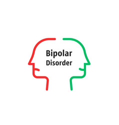 bipolar disorder like linear faces vector image