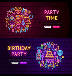 birthday website banners vector image