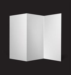 blank three fold paper brochure vector image