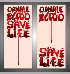 blood donor concept vector image