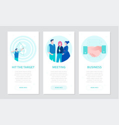 business communication - set flat design style vector image