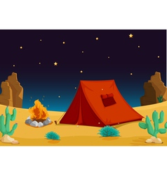 Camp in Desert vector