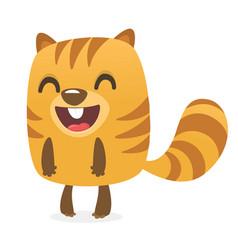 Cartoon chipmunk or marmot laughing vector