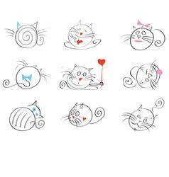 cats happy vector image