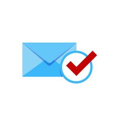 check mail logo icon design vector image