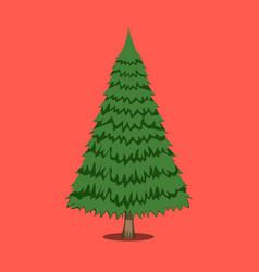 Christmas tree xmas icon cartoon style vector
