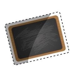 Classic school blackboard vector