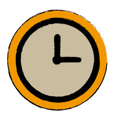 Clock world time concept business daily icon vector