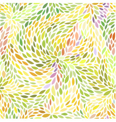 colorful leaves pattern vector image