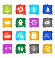 cruise icon set vector image