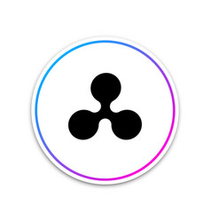 cryptocurrency coin ripple xrp icon isolated on vector image