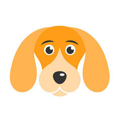Cute dog icon isolated on white background vector