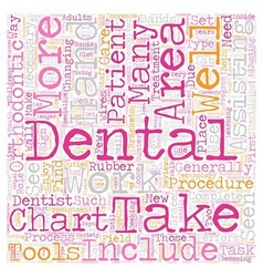 Dental Assistants in Orthodontics 1 text vector image