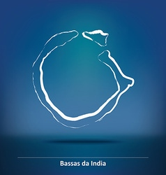 Doodle Map of Bassas da India vector