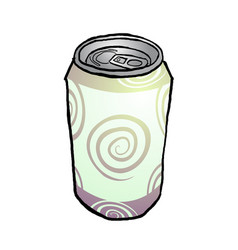 Drink metal can vector