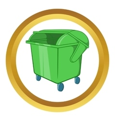 Dumpster icon vector