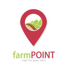 Farm point logo vector