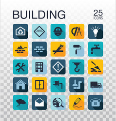 Flat construction icons construction tools icons vector