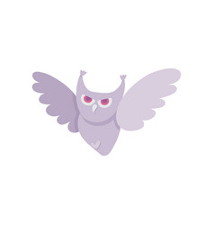 flat halloween owl vector image