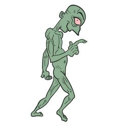 funny zombie vector image