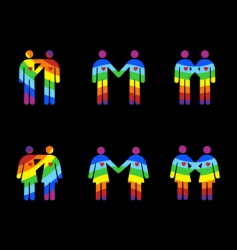 gay couples pictograms vector image