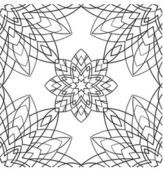 geometric black and white ornament vector image