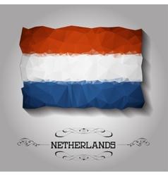 geometric polygonal Netherlands flag vector image
