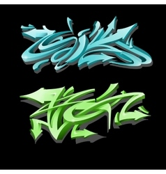 Graffiti lettering on black background Street art vector