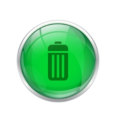 Green battery button vector