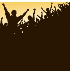 high crowd vector image