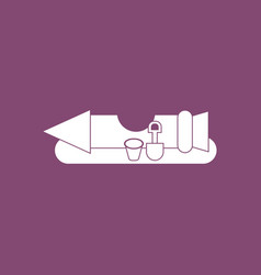 Icon seat rocket vector
