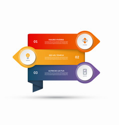 infographic template with 3 options steps vector image