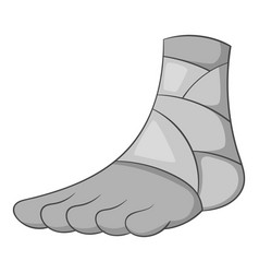 Injured ankle icon monochrome vector