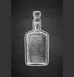 ink sketch whiskey bottle vector image
