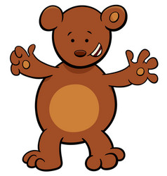 little bear cartoon character vector image
