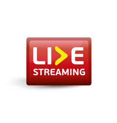 Live streaming red button vector