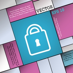 Lock icon sign Modern flat style for your design vector image