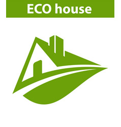 Logo eco house vector