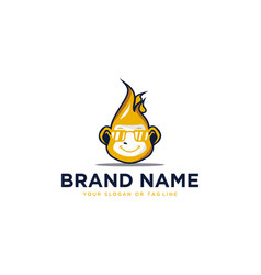 Logo monkey template vector