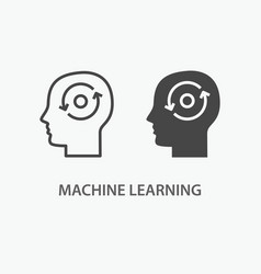 Machine learning icon vector