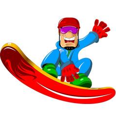 Man on a snowboard vector