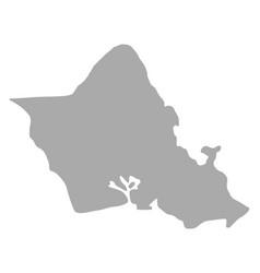 Map of oahu vector