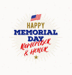 memorial day - national american holiday vector image