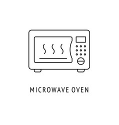 microwave oven kitchen appliances icon vector image