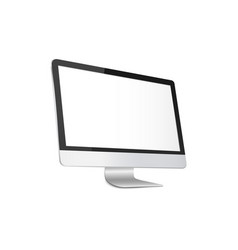 Modern computer monitor with blank white screen vector