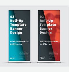 modern roll-up banner design with space vector image